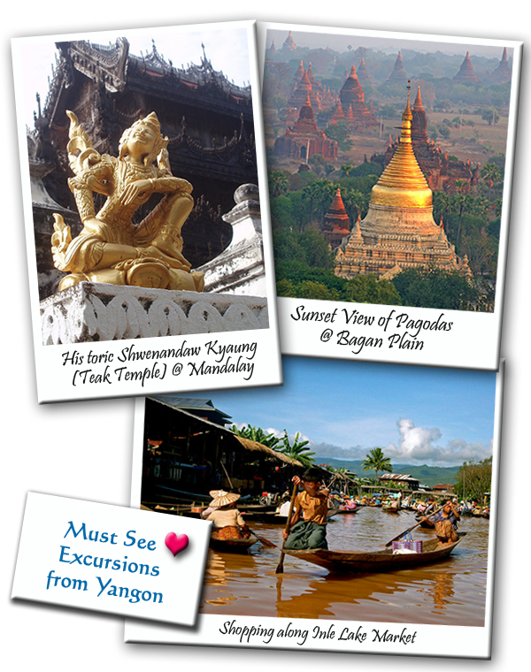 Myanmar Big Four Sights Bagan Mandalay Inle Lake