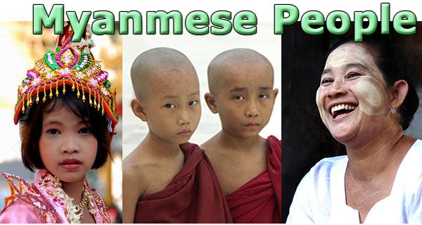 Myanmese People Burma Monk Nun Thanaka