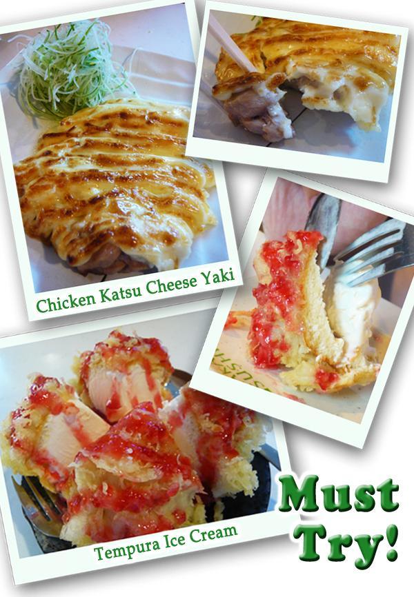 Katsu Chicken Cheese Yaki, Tempura Ice-Cream