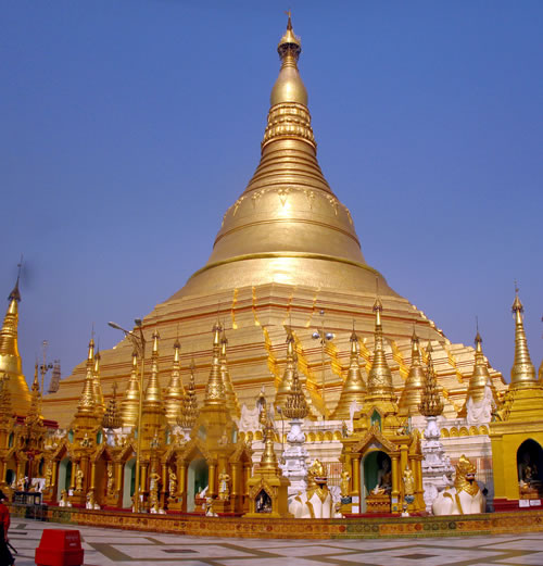 Schwedagon Golden Pagoda Yangon Myanmar