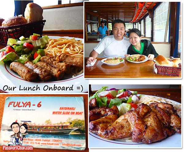 12 island tour Boat Fethiye Black Sea Food