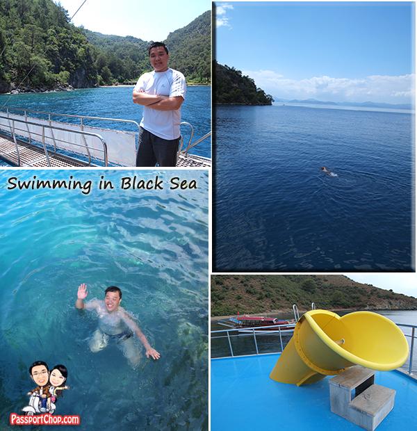12 island tour Boat Fethiye Black Sea Swimming