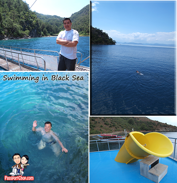 12 island tour Boat Fethiye Black Sea Swimming