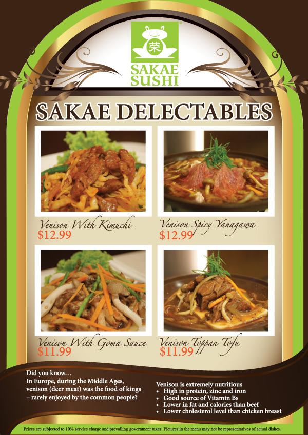 Sakae Sushi Delectables Venison