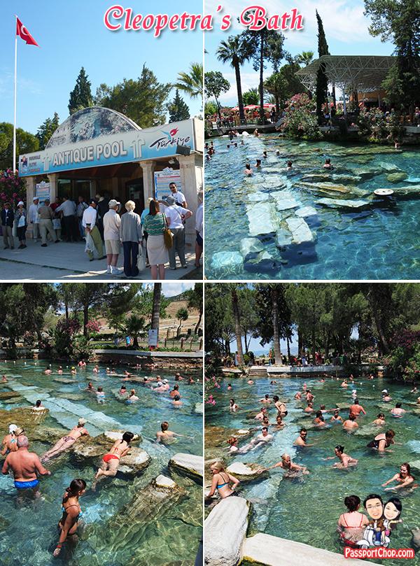 Cleopatra Bath Antique Pool Pamukkale Hierapolis