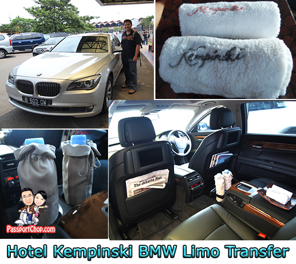 Kempinski Hotel Indonesia Luxury BMW Car Airport Transfer