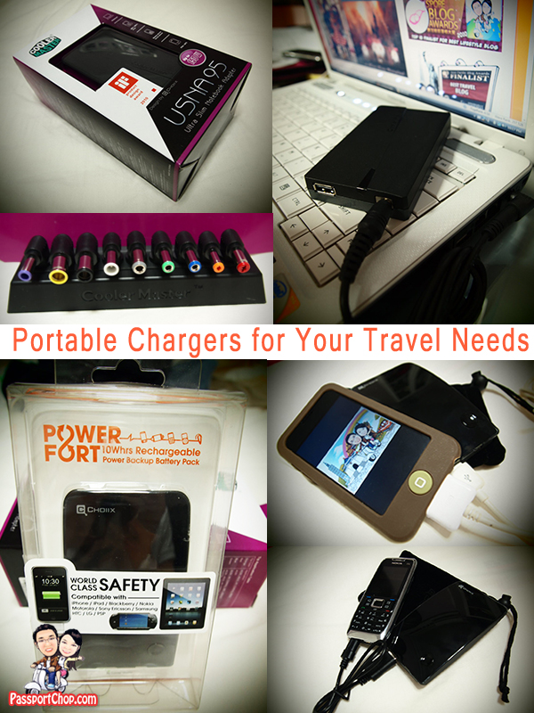 Choiix Cooler Master Power Fort ipad laptop ipod Portable Travel Chargers