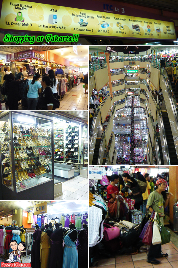 ITC Mangga Dua and Pasar Pagi Mangga Dua Shopping at Jakarta