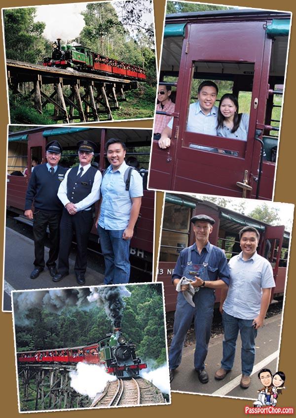 Puffing Billy Steam Train Railway Belgrave Melbourne Victoria Australia The Dandenongs Conductor