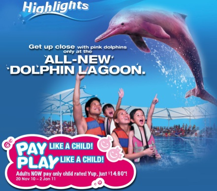 Underwater World Dolphin Lagoon Sentosa Singapore Promotion