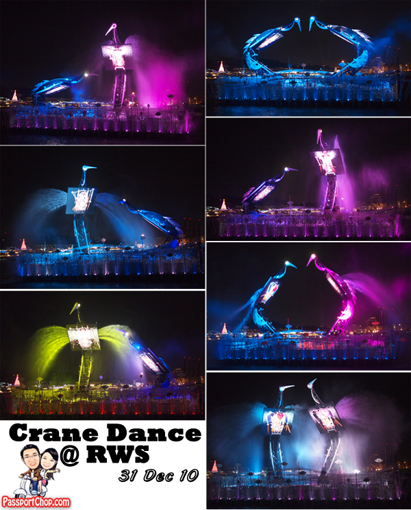 Crane Dance Performance Universal Studios Singapore RWS USS Resorts World Sentosa