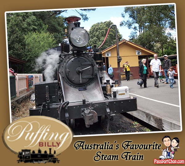 Puffing Billy Steam Train Railway Belgrave Melbourne Victoria Australia