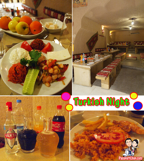 Turkish Night Food Meze Unlimited Soft drinks alcohol raki