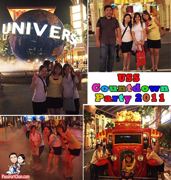 31 December 2010 Universal Studios Singapore RWS USS Resorts World Sentosa Countdown Party Party Pack Food