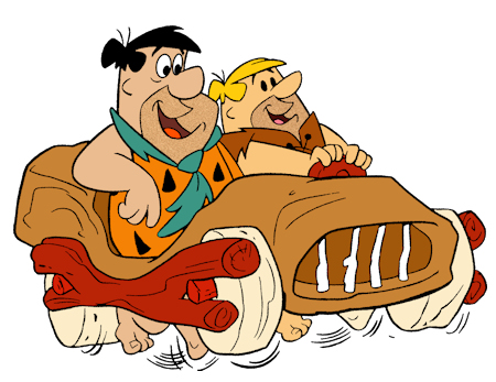 Fred Flintstone Barney Rubble Car Foot