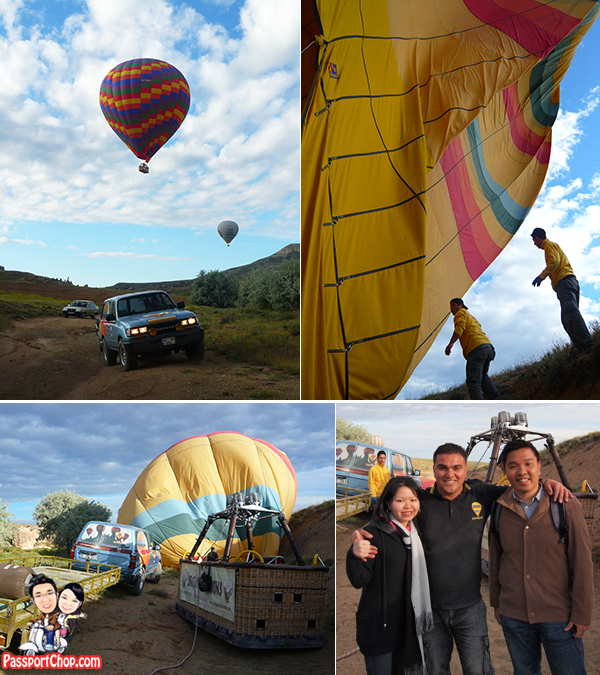 Hot Air Balloon Flight Experience Cappadocia Goreme Urgup Tour Landing Safely