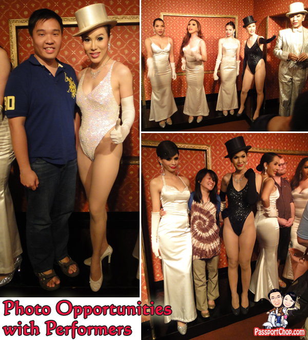Photo Opportunities with Ladyboy Performers Calypso Cabaret Bangkok Performances Asia Hotel