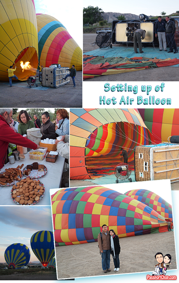Hot Air Balloon Flight Experience Cappadocia Goreme Urgup Tour Setting Up