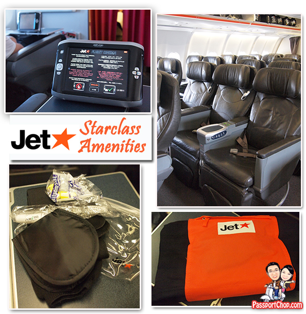 Jetstar Starclass Onboard Flight Amenities Legroom Toothbrush Toothpaste Eye Shades Ear Plugs