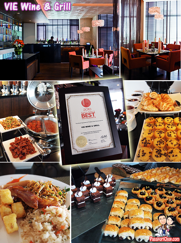 VIE Wine and Grill Grand Breakfast Buffet Thai dishes and Desserts Cakes