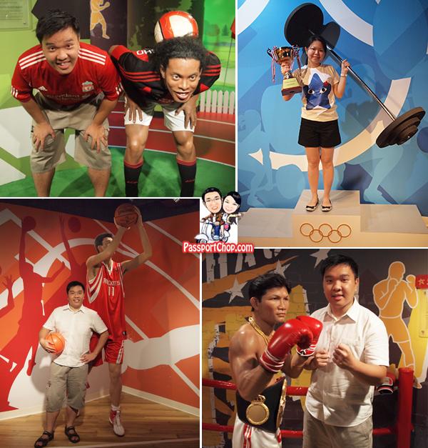 Bangkok Madame Tussauds Yao Ming Mike Tyson Olympics Ronaldinho Sporting Figures Wax