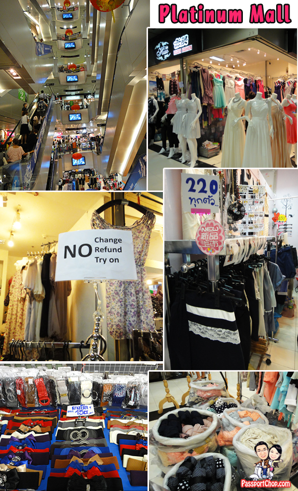 Platinum Fashion Mall Air-conditioned Female fashion Accessories Bangkok Shopping