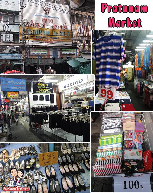 Pratunam Market Outdoor Open Air Alley Shopping Bangkok Thailand