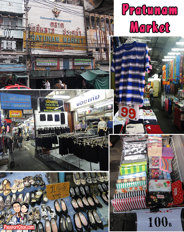 Pratunam Market Outdoor Open Air Alley Shopping Bangkok Thailand
