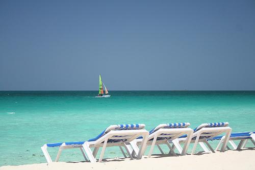 beach cuba beach chair havana sea