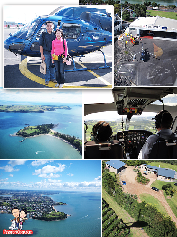 Helilink Helicopter Flight Ride Waiheke Island Auckland Mechanics Bay
