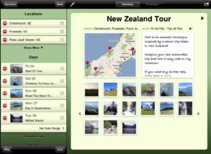 MyVacation iPad App Trip Summary
