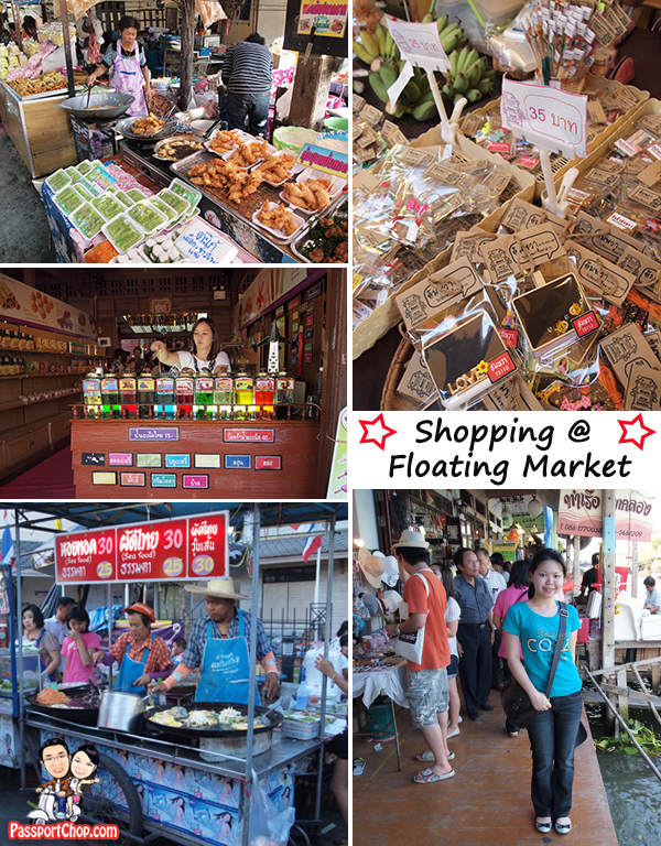 Shopping at Floating Market Amphawa Evening Market Permanent Stalls Shops Food Souvenirs