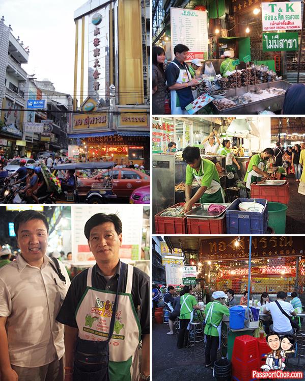 T&K Seafood Bangkok Chinatown Yaowarat Streetside Dining Food Location Phadung Dao Road