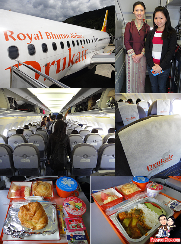 Druk Air Cabin Food Seats No inflight entertainment Royal Bhutan Airlines DrukAsia paro Airport