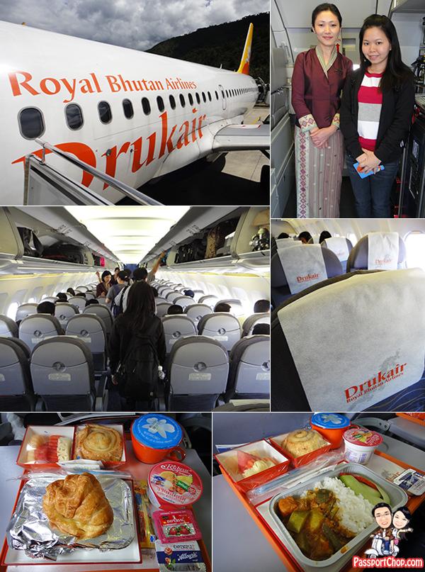 Druk Air Cabin Food Seats No inflight entertainment Royal Bhutan Airlines DrukAsia paro Airport