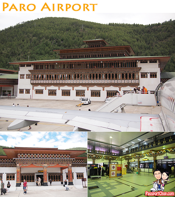 DrukAir Royal Bhutan Airlines DrukAsia Paro Airport Immigration Building