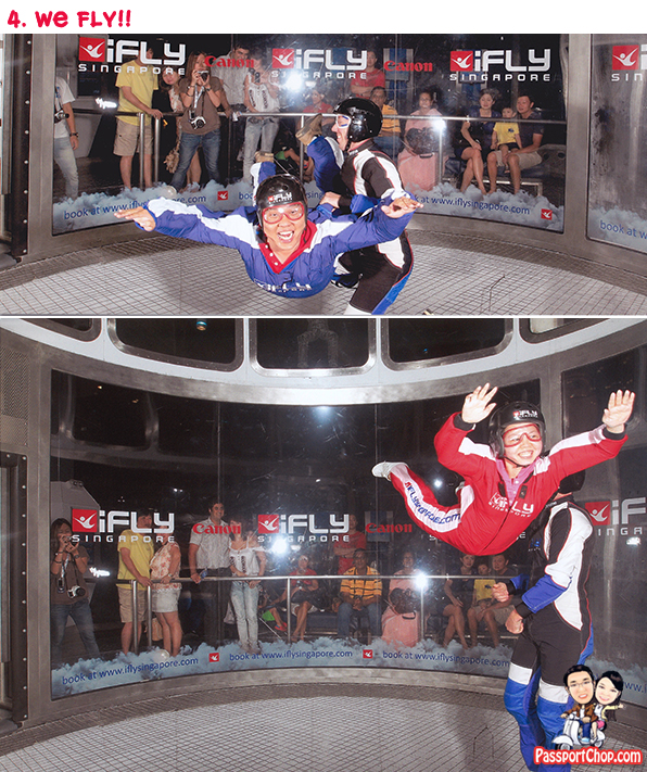 iFly Singapore Sentosa Skyventure PassportChop Flight Experience take-off Flying