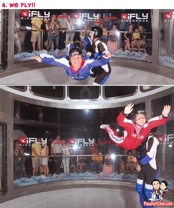 iFly Singapore Sentosa Skyventure PassportChop Flight Experience take-off Flying