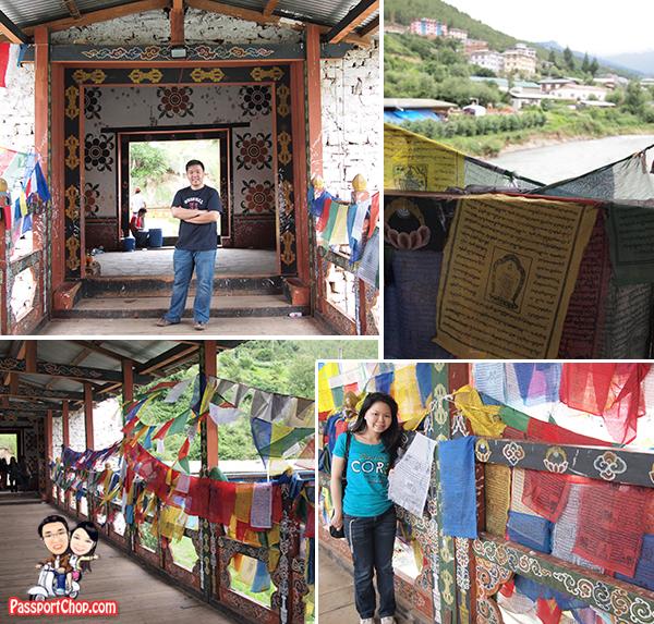 Bhutan Thimphu Centenary Farmers Weekend Market Cantilever Bridge Wangchu River Kuendeyling Bazaam