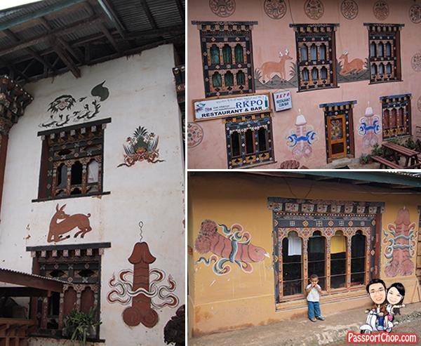 Chimi Lhakhang Punakha Bhutan Divine Madman Temple Fertility Phalluses Penis Effigy Drawings