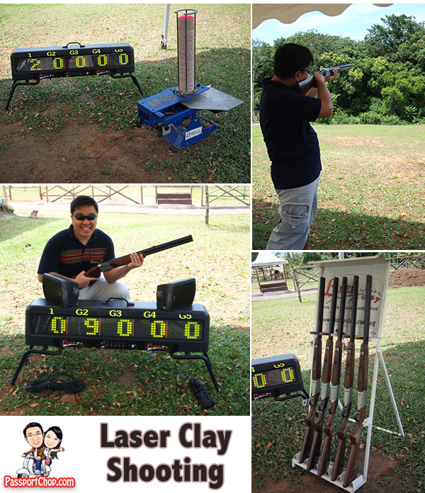 Bintan Resort Centre Indonesia nirwana Gardens Laser Clay Shooting