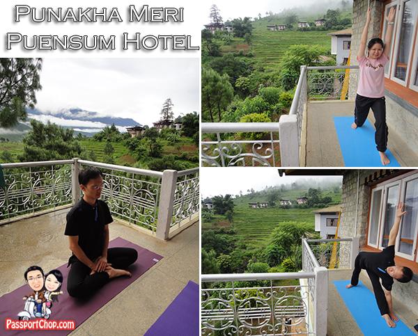 Bhutan Punakha Meri Puensum Hotel Yoga Practice