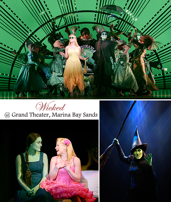Wicked Theater Performance Musical Singapore Sands Theater Grand Marina Bay Sands