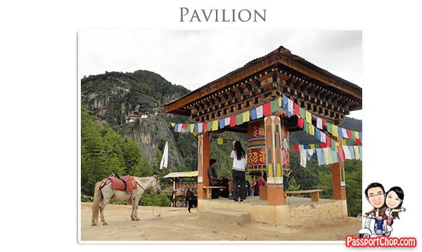 Taktsang Cafeteria Pavilion Rest Stop Midpoint Trail towards Taktsang Palphug Monastery Tiger's Nest Monastery Bhutan Paro