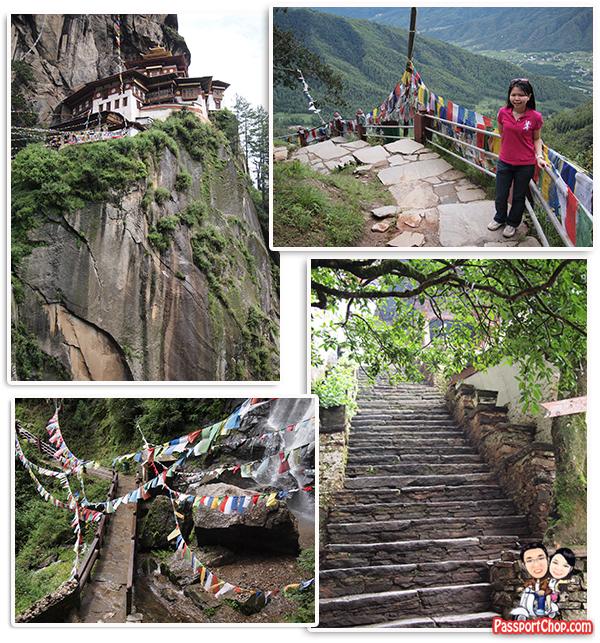 Stage 3 Walking Trail Stairs towards Taktsang Palphug Monastery Tiger's Nest Monastery Bhutan Paro