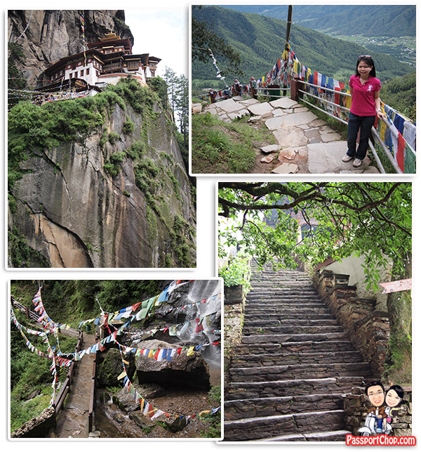 Stage 3 Walking Trail Stairs towards Taktsang Palphug Monastery Tiger's Nest Monastery Bhutan Paro