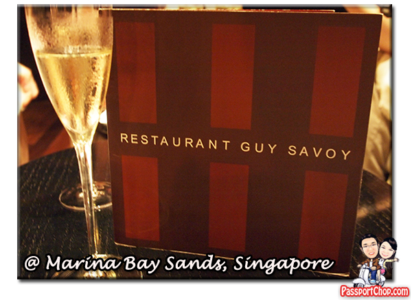 Restaurant Guy Savoy Marina Bay Sands Bites and Bubbles Bubble Bar Dinner Marina Bay Sands Celebrity Restaurants Fine Dining Oysters in Ice Gelee