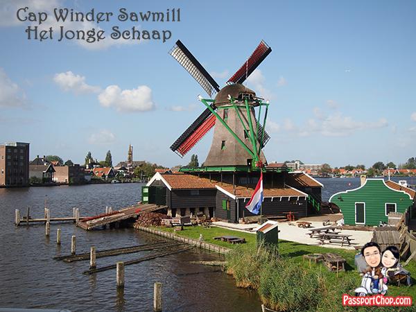 Zaanse Schans Windmills Open Air Museum Zaandam Amsterdam Holland Cap Winder Sawmill Het Jonge Schaap