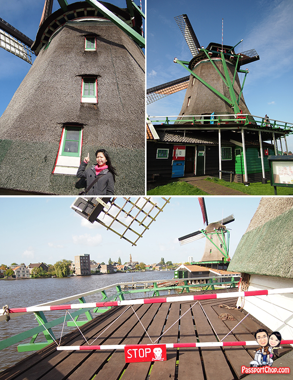 Zaanse Schans Windmills Open Air Museum Zaandam Amsterdam Holland Top of Windmill Blade