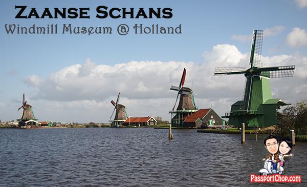 Zaanse Schans Windmills Open Air Museum Zaandam Amsterdam Holland